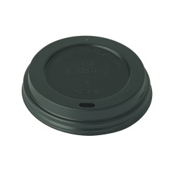 8oz Black Domed Sip Thru Lid Per 1000