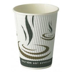 8oz Weave Ripple Wall Hot Drink Cup Per 500