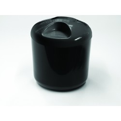 Black Round Ice Bucket 4 Litre/7 pints