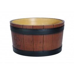 Barrel End wood effect 11 Ltr Ice Tub