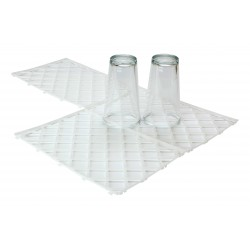 White Plastic Interlocking Glass Mats Pack 10