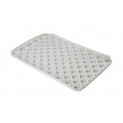 Heavy Duty White Plastic Interlocking Glass Mats Pack 10