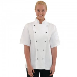 Medium Chicago Short Sleeve Chef Jacket Each