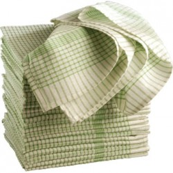 "Green Super Dryer Tea Towels 18""x28"" Per 10"
