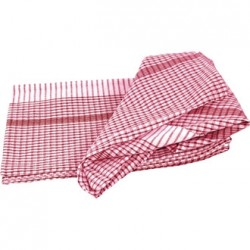 "Red Super Dryer Tea Towels 18""x28"" Per 10"