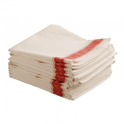 "Linen Union Tea Towels RED 20""x30"" Each"