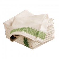 "Linen Union Tea Towels GREEN 20""x30"" Per 10"