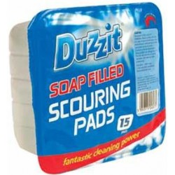 Duzzit Soap Filled Scouring Pads Per 15