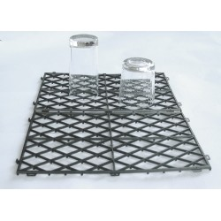 "12 x 8"" Black Plastic shelf Mats Interlocking"