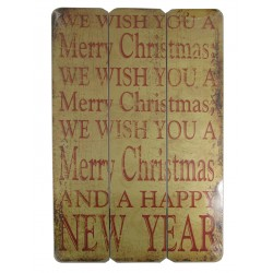 Merry Christmas Sign Small 45cm x 30cm - Each