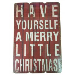 Merry Little Christmas Sign Small 45cm x 30cm - Each