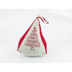 Christmas Triangle Doorstop - Each
