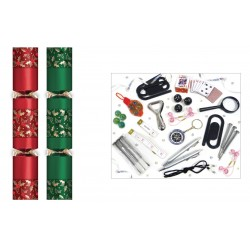 "12"" Red & Green Holly Crackers Per 50"