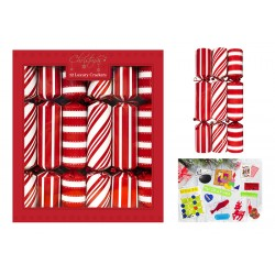 """14"""" Red and white candy cracker Per 12"""