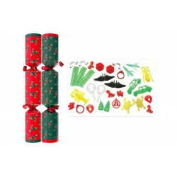 "10"" Red & Green Holly Crackers per 50"