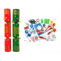 """11"""" Red & Green Christmas Crackers"""