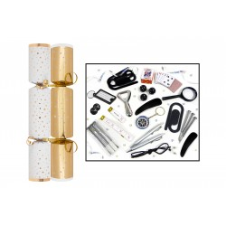 "12"" Gold Star Christmas Crackers Per 50"