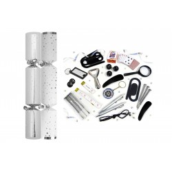"""12"""" Silver Star Christmas Crackers Per 50"""