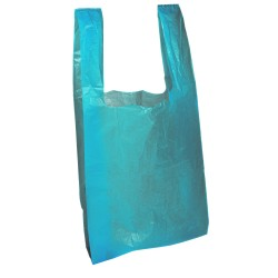 "Blue Carrier Bags 12x18x23"" Per 1000"