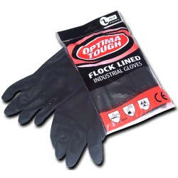 Large Black Industrial Gloves Per 10